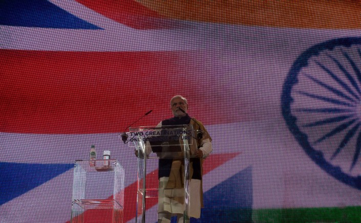Prime Minister Modi Addressing the Crowd